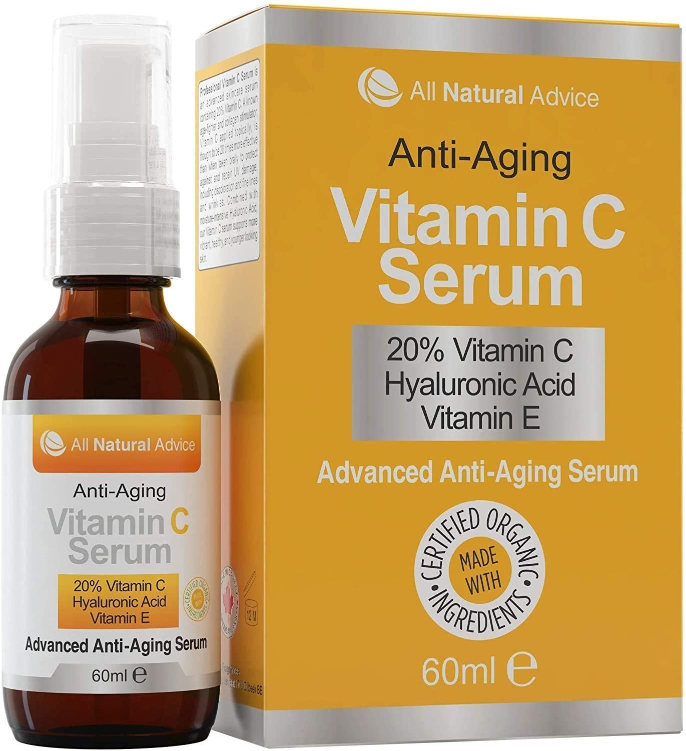 A bottle of the serum