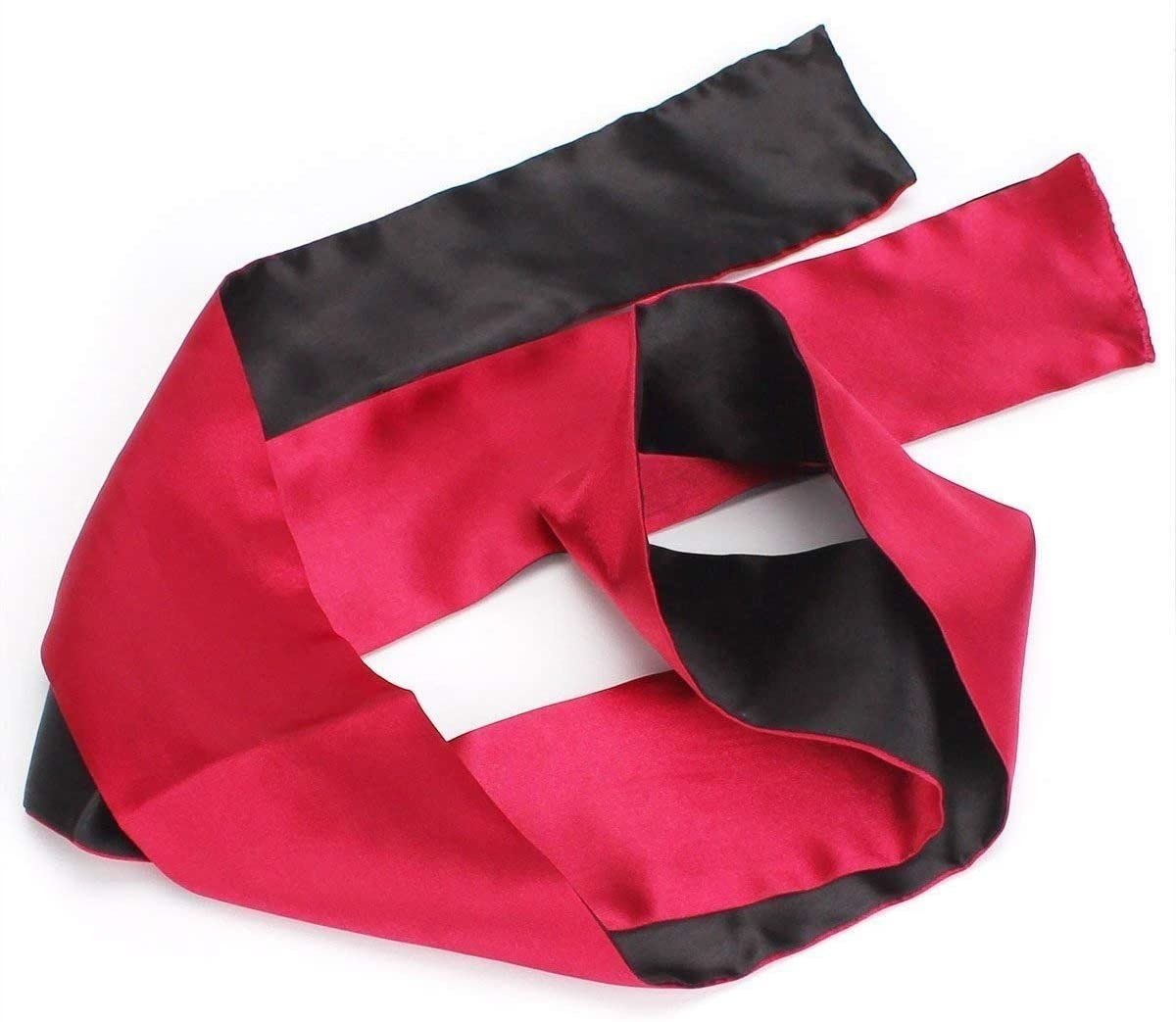 The black and red Satin Blindfold Mask