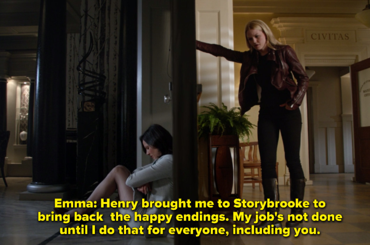 Emma telling Regina that she is going to help her get her happy ending