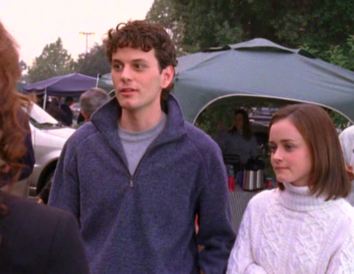 Marty and Rory talking with Rory's grandparents