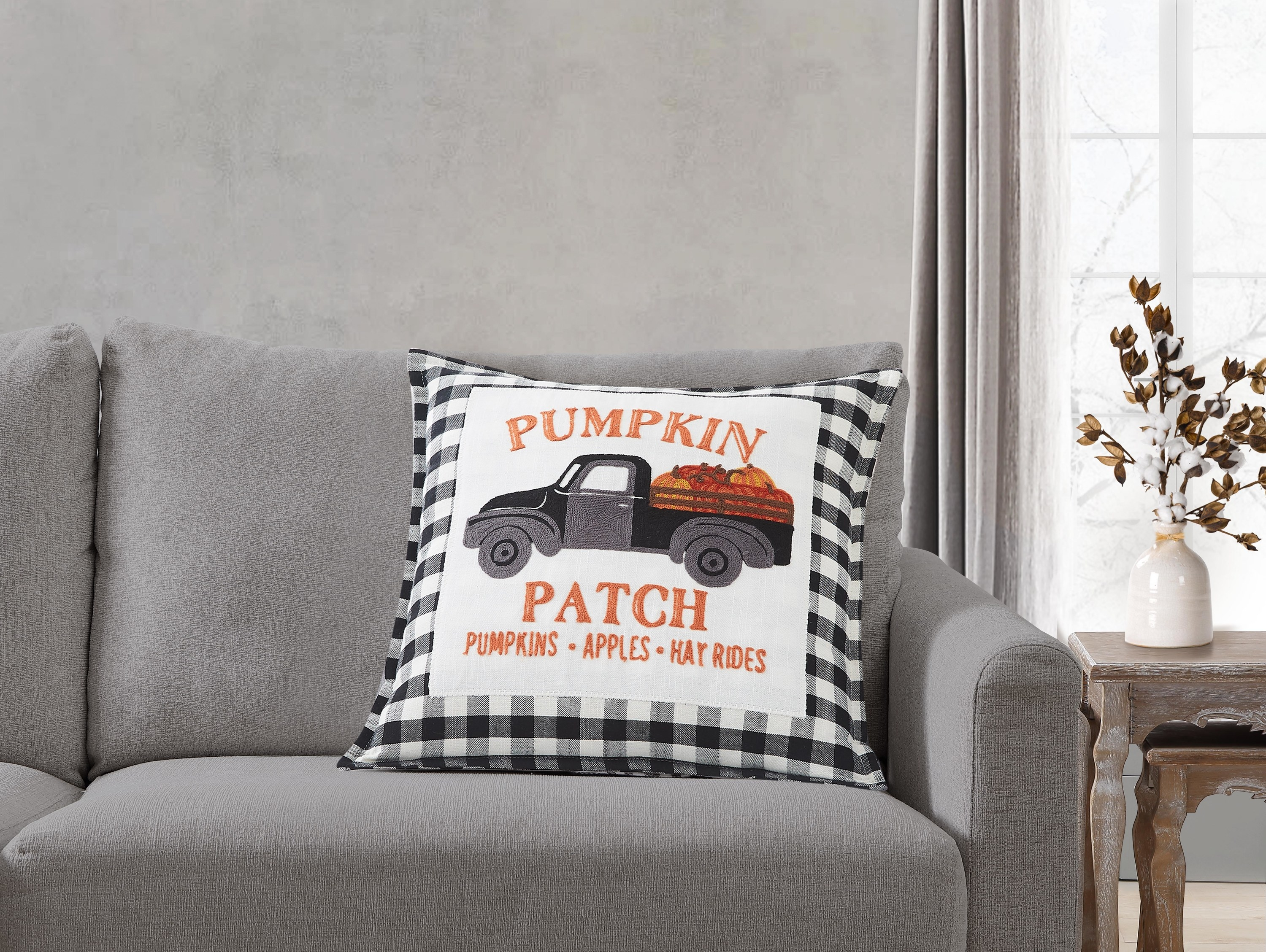 The throw pillow placed on a couch