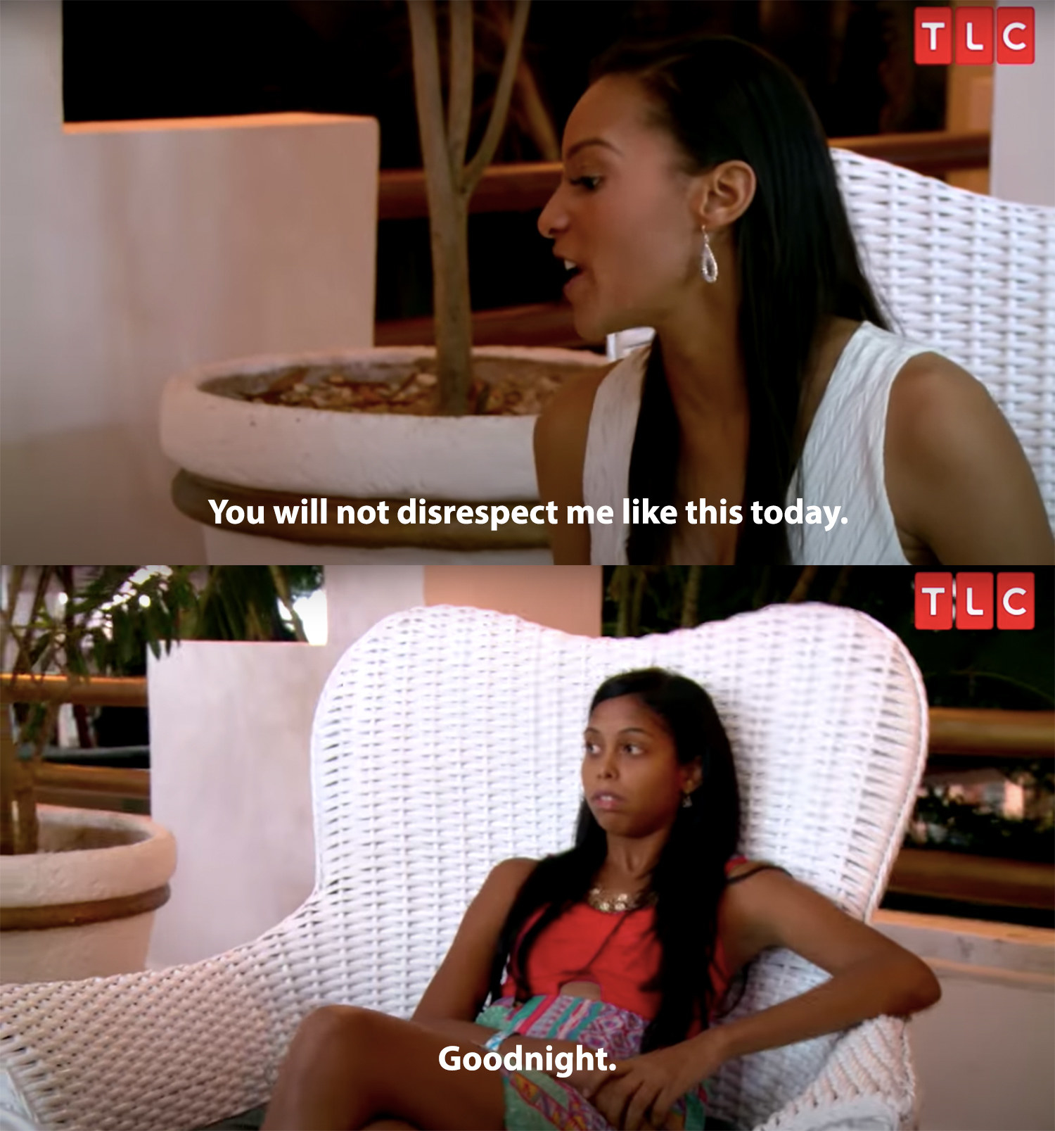 Chantel yells at Nicole for disrespecting her