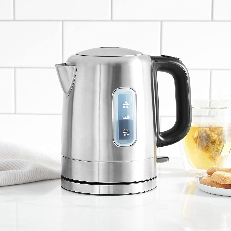 silver 1 liter kettle