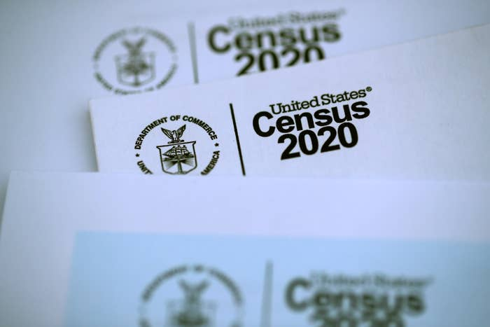 The US Census logo appears on census materials received in the mail