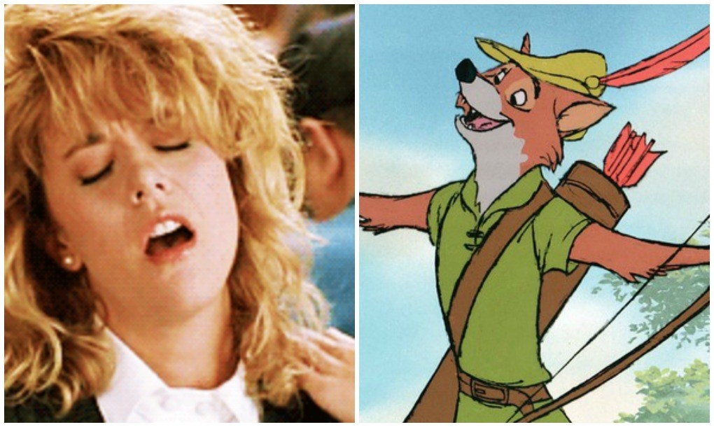 Meg Ryan fakes climaxing in When Harry Met Sally and the Robin Hood fox