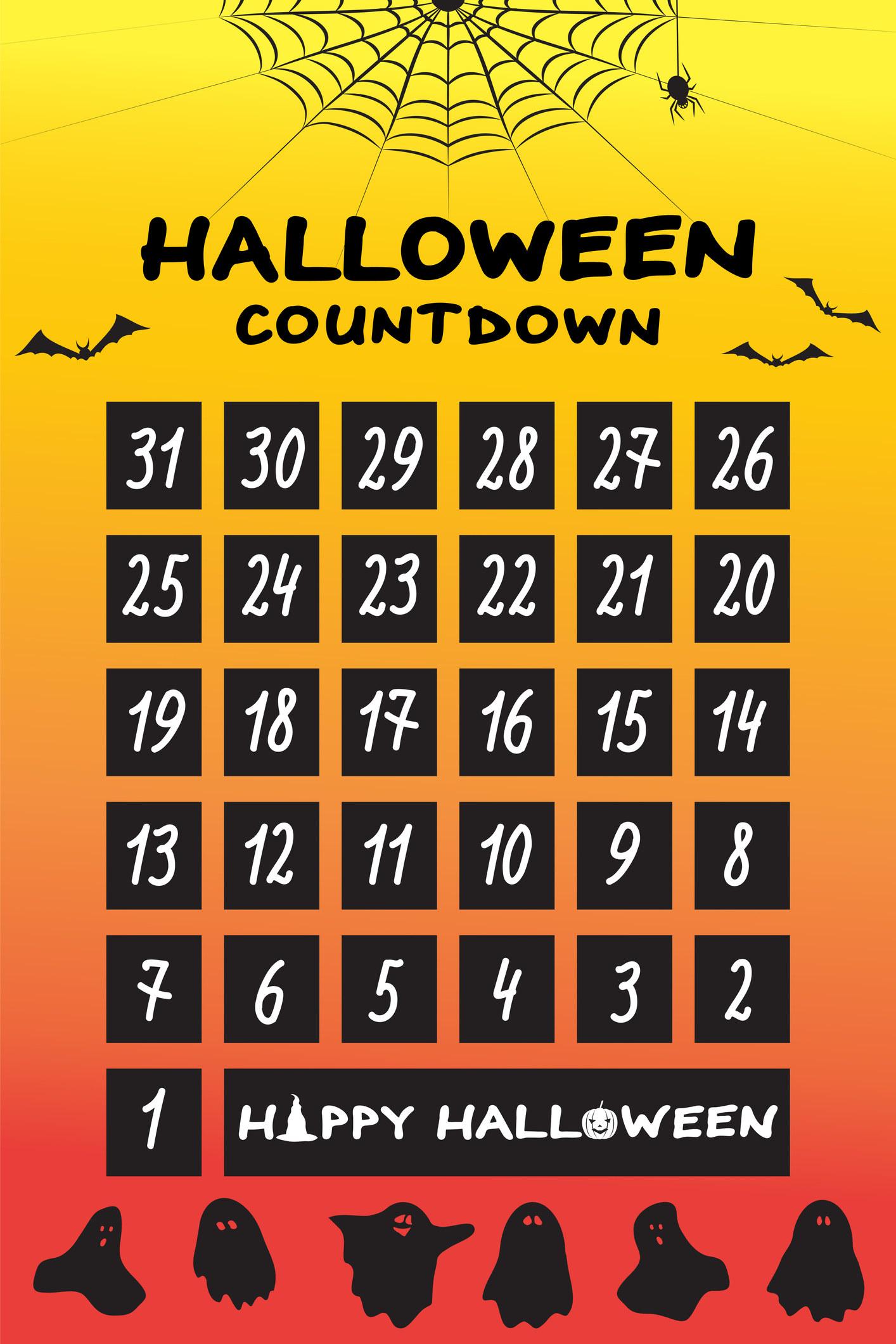 A Halloween countdown calendar.