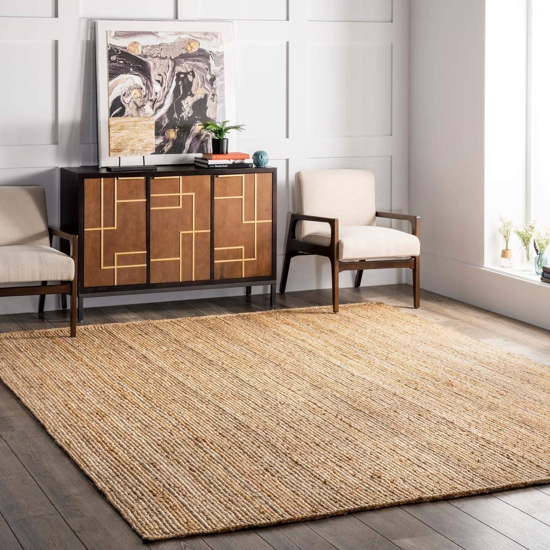 Square jute rug