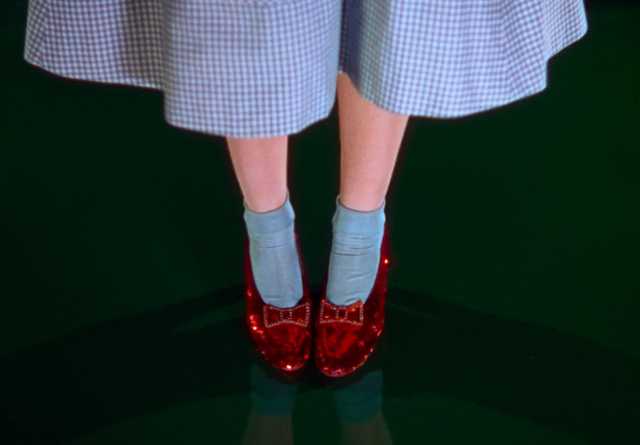 A pair of ruby slippers