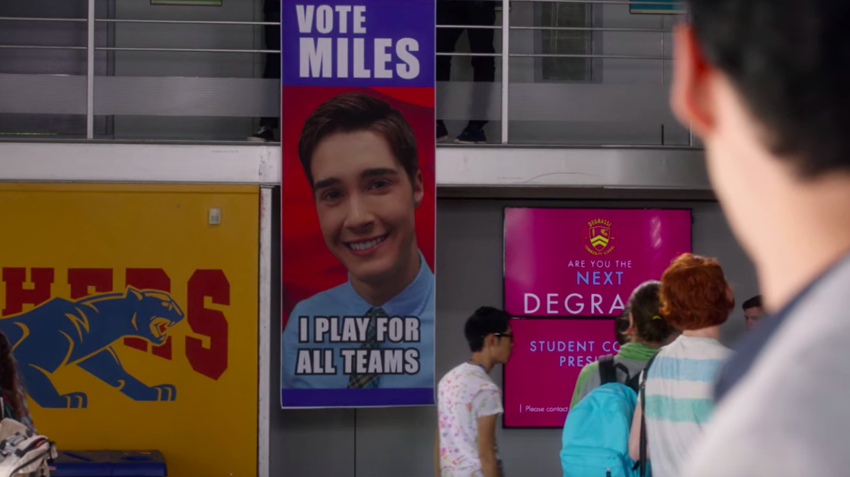 """Miles campaign poster: """"I play for all teams"""""""