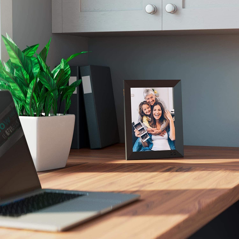the frame on a desk
