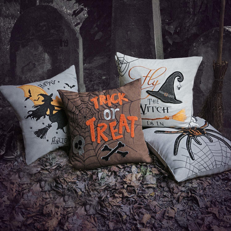 Halloween throw pillow covers set