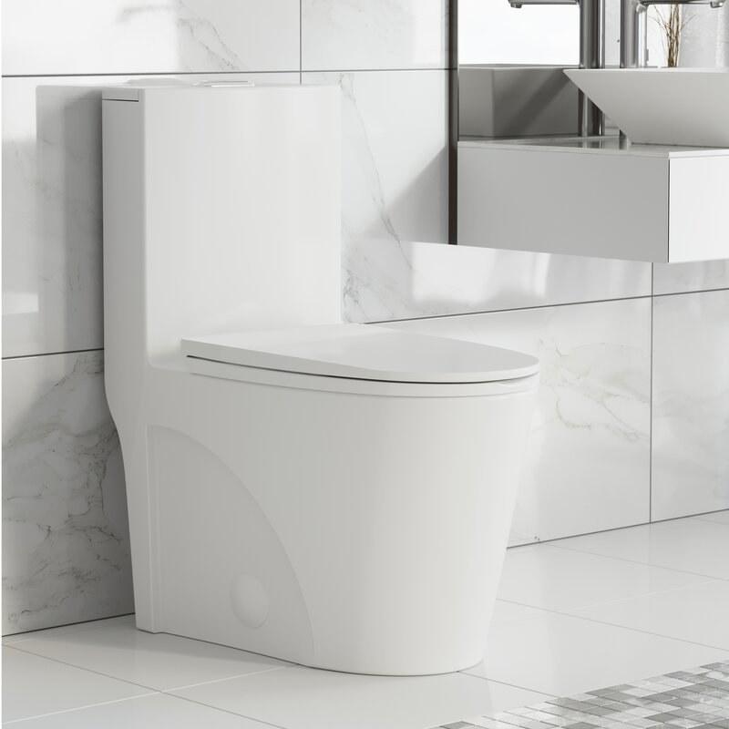 A modern white toilet