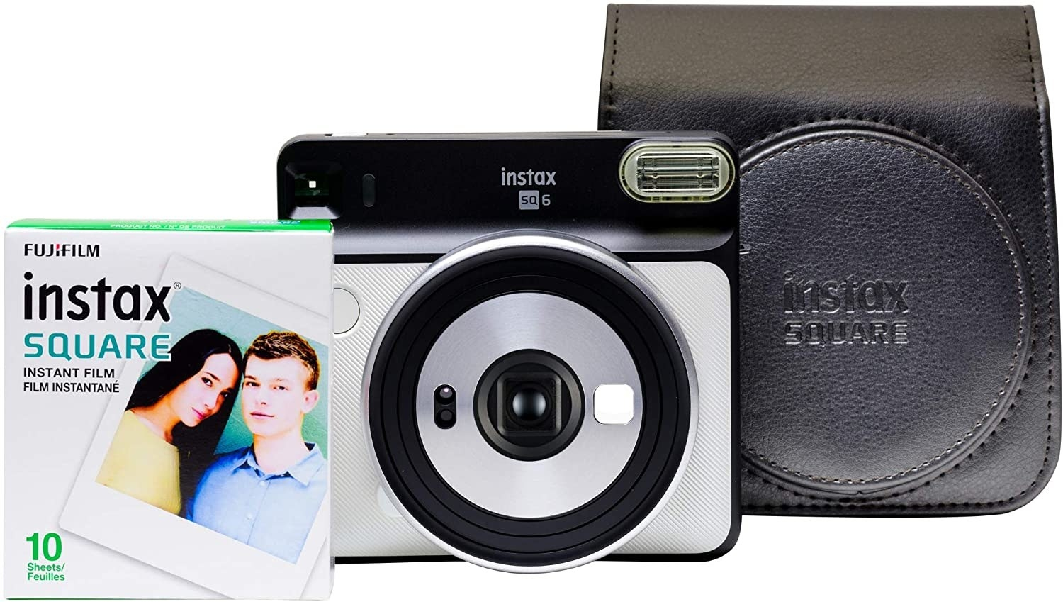 The camera, film, and case