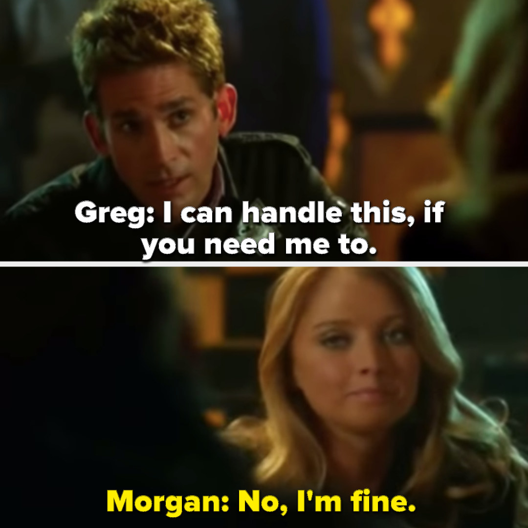 Greg offering support to Morgan
