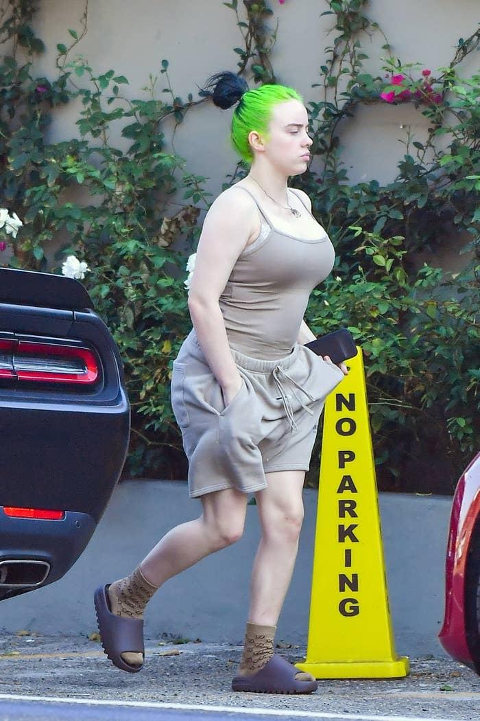 Billie running errands in LA