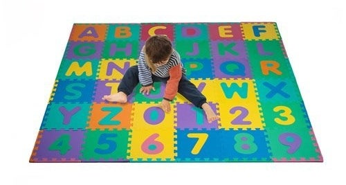 Alphabet and number puzzle mat for kids