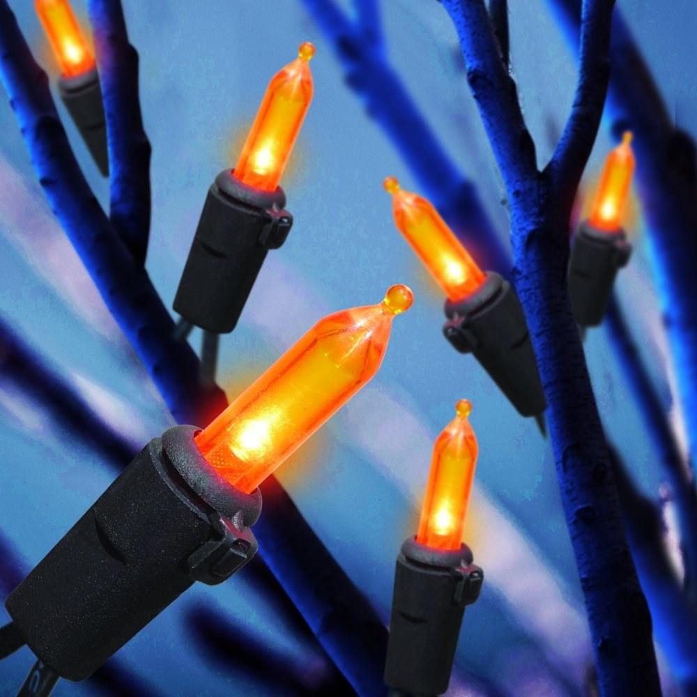 Orange LED mini lights