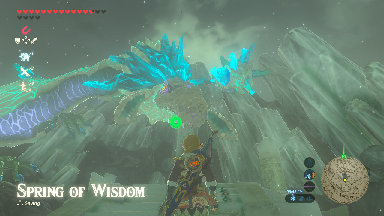 link looks at dragon