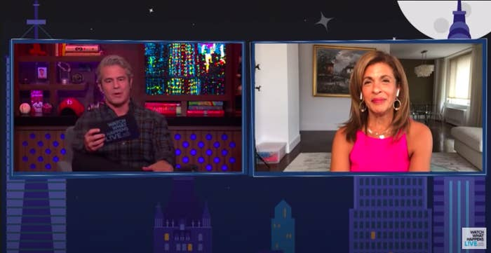 """Andy Cohen interviewing Hoda Kotb on """"Watch What Happens Live"""""""