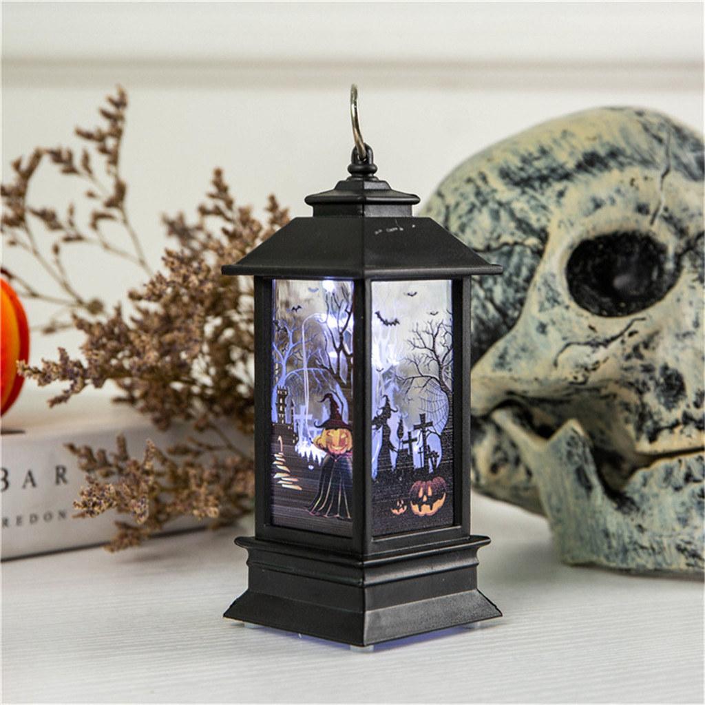 Candle with LED tea light lantern