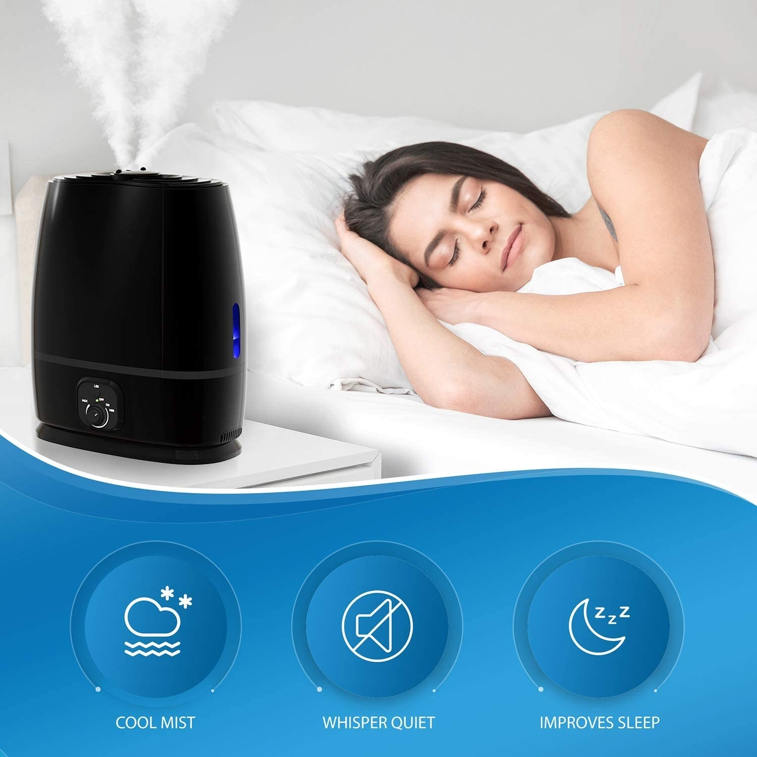 The cool mist, quiet humidifier