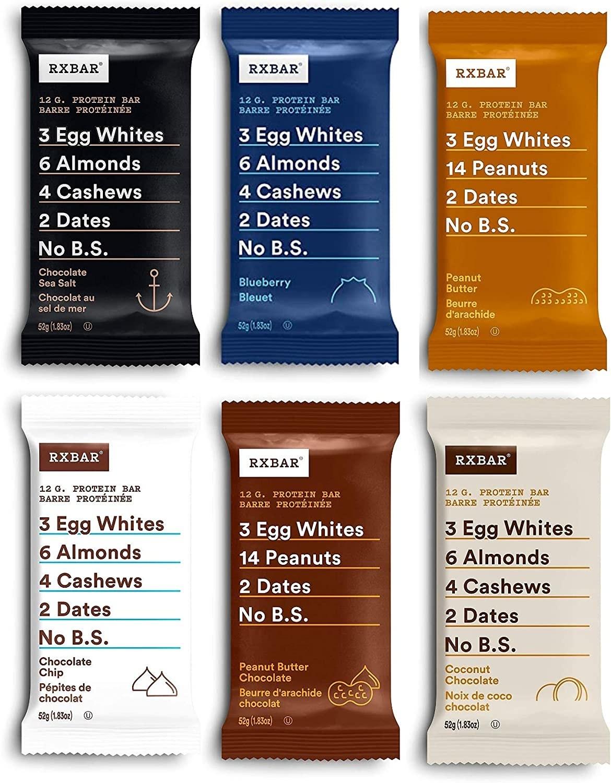 Six RXBAR snack bars