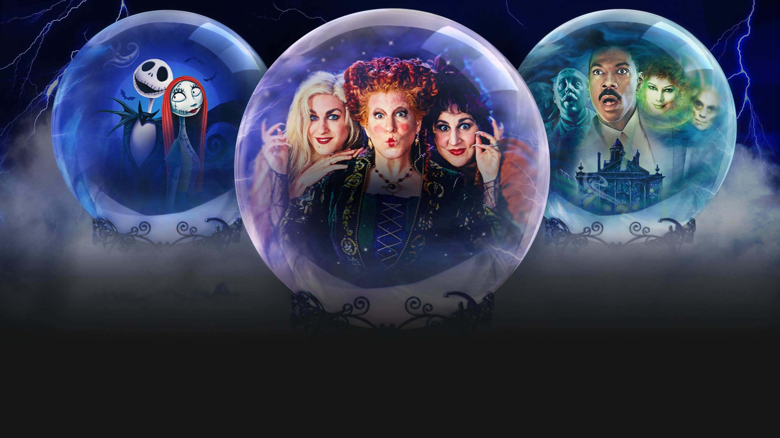 Graphics for a few Halloween movies available on Disney+