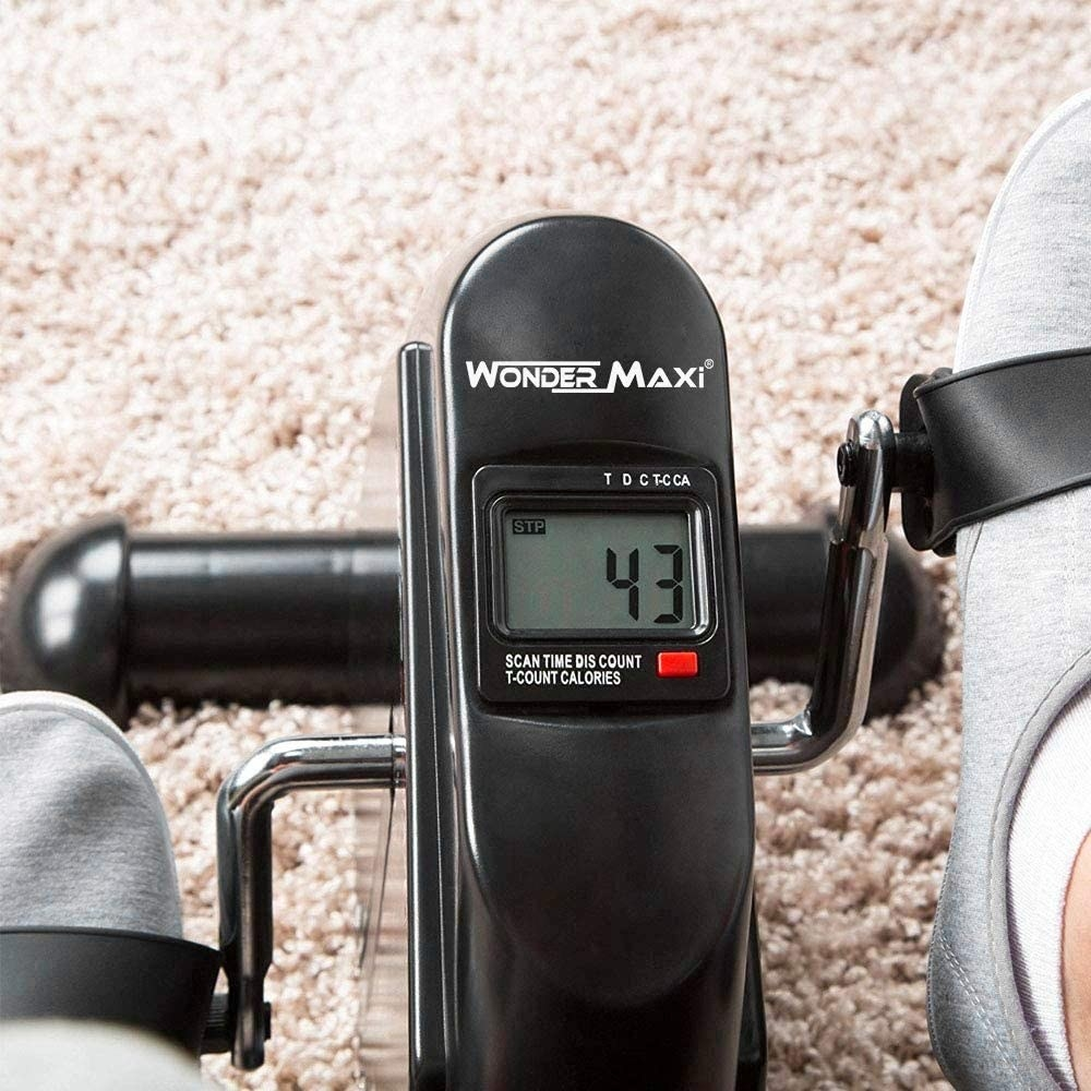 the bike pedals being used