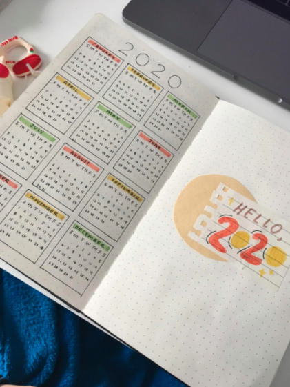 the journal used to make a calendar for 2020