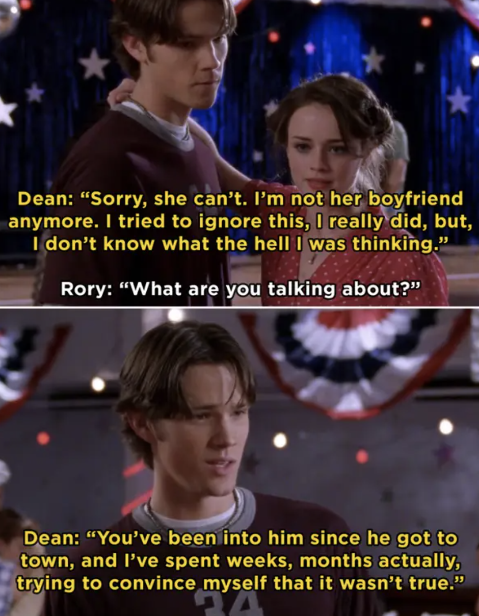 Dean breaking up with Rory at a dance