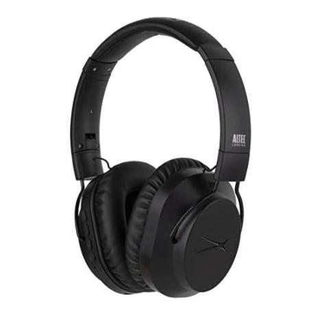 Black noise-cancelling headphones