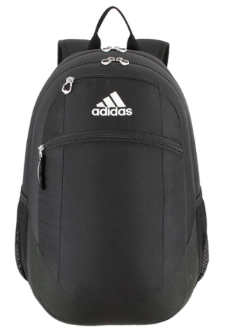 Black Adidas backpack with pockets in front