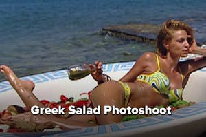 """Greek salad photoshoot from """"America's Next Top Model"""""""