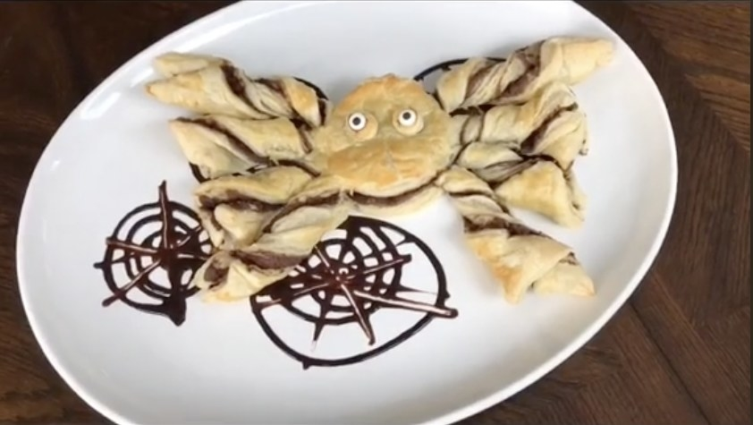 A pastry that looks like a giant spider
