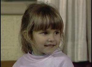 "Judith Barsi in an episode of ""Punky Brewster."""