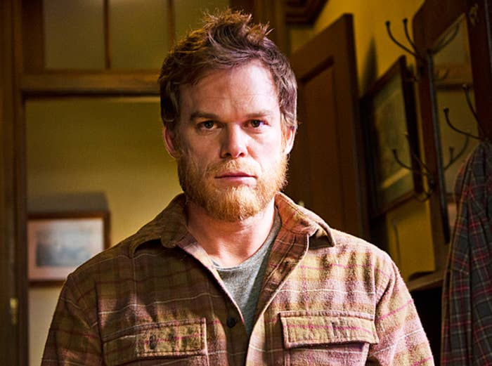 Michael C. Hall as Dexter in the series finale with a beard