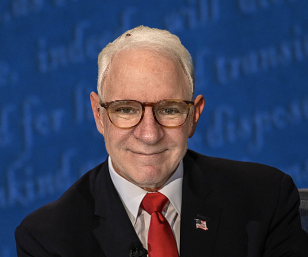 photoshopped picture of Steve Martin's face ver Pence's in the debate