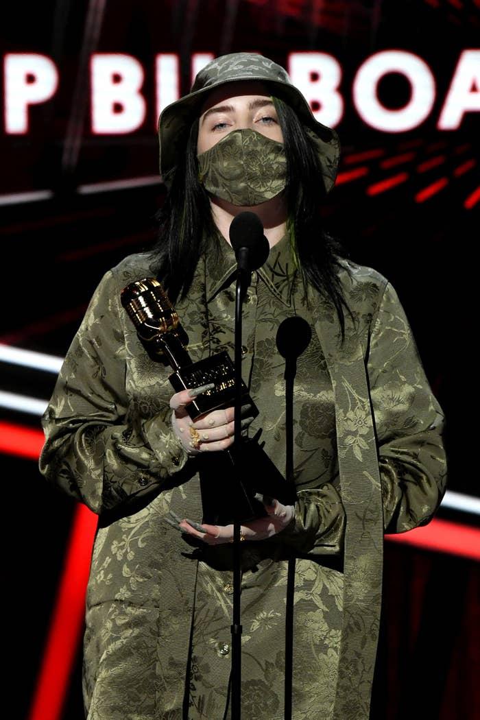Billie Eilish at the 2020 Billboard Music Awards