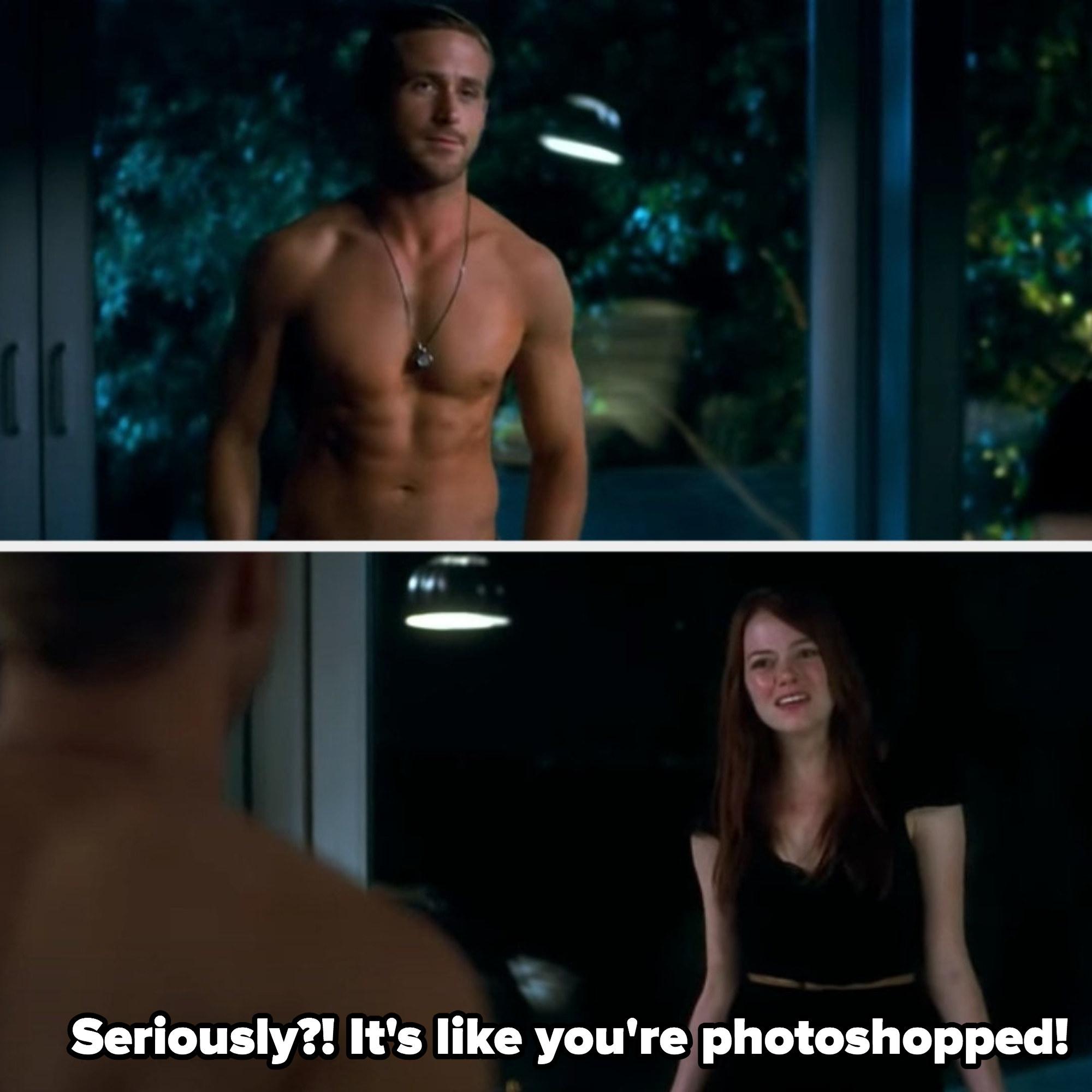 汉娜对雅各布大喊大叫,说他看起来像';s photoshopped公司