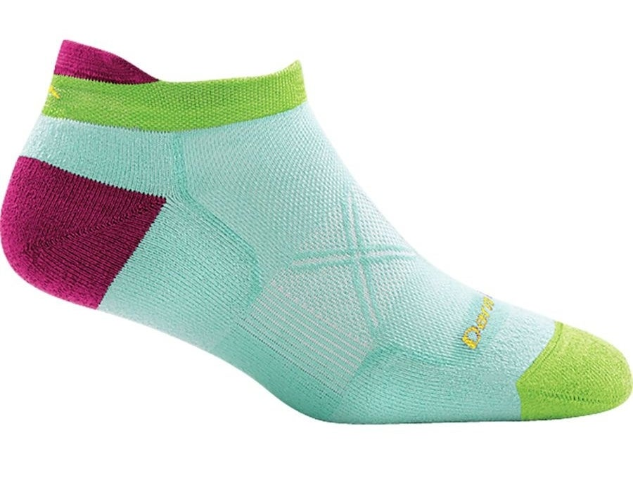 The mint, green, and magenta socks