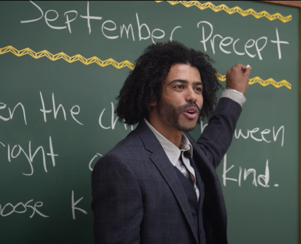 Daveed Diggs playing a teacher in the film Wonder