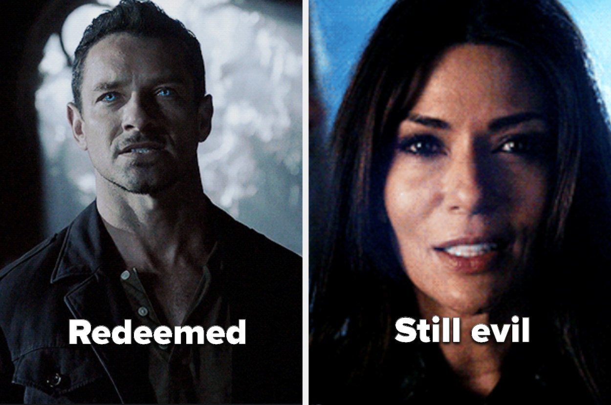 "Malia's mom with the label ""still evil"" and Peter with the label ""redeemed"" from Teen Wold"