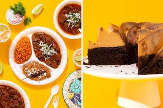 Birria and Chocoflan from the cookbook Chicano Eats