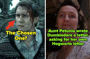 """Neville and Aunt Petunia from the """"Harry Potter"""" movies"""