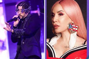 Bad Bunny and Ivy Queen side-by-side.
