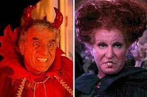 The devil and Winifred Sanderson from Hocus Pocus