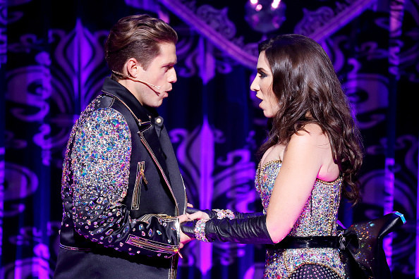 Aaron Tveit performs Moulin Rouge at NY Fashion Week