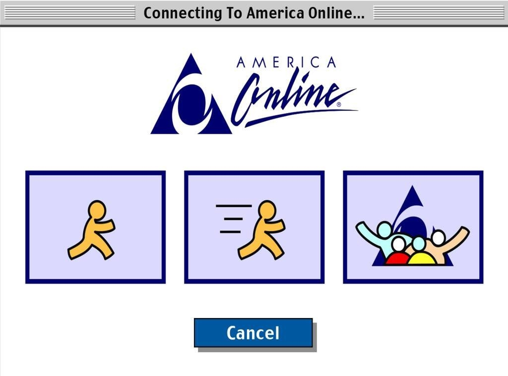 A photo of AOL connecting page