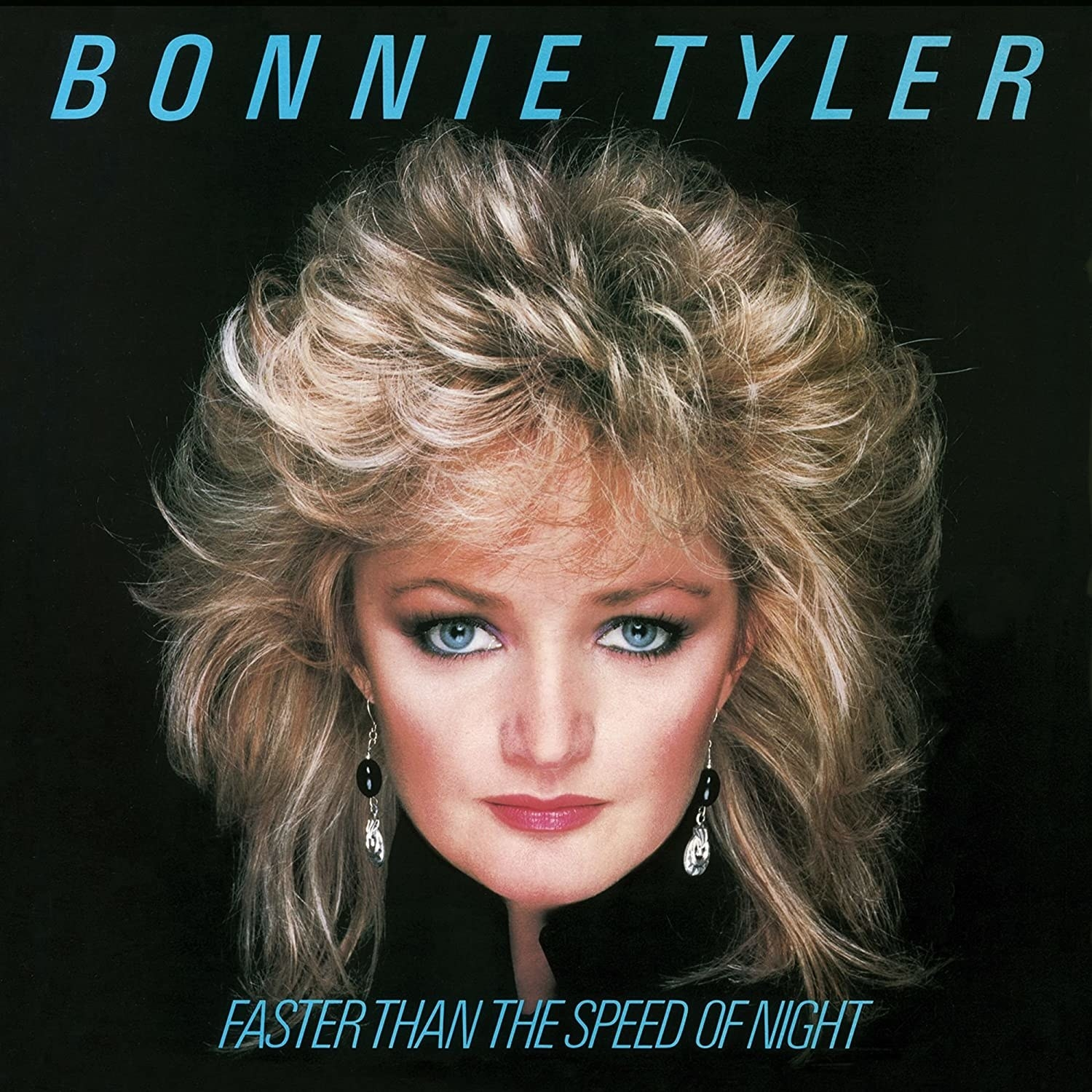 album cover of Faster Than The Speed of Night showing Bonnie Tyler's face