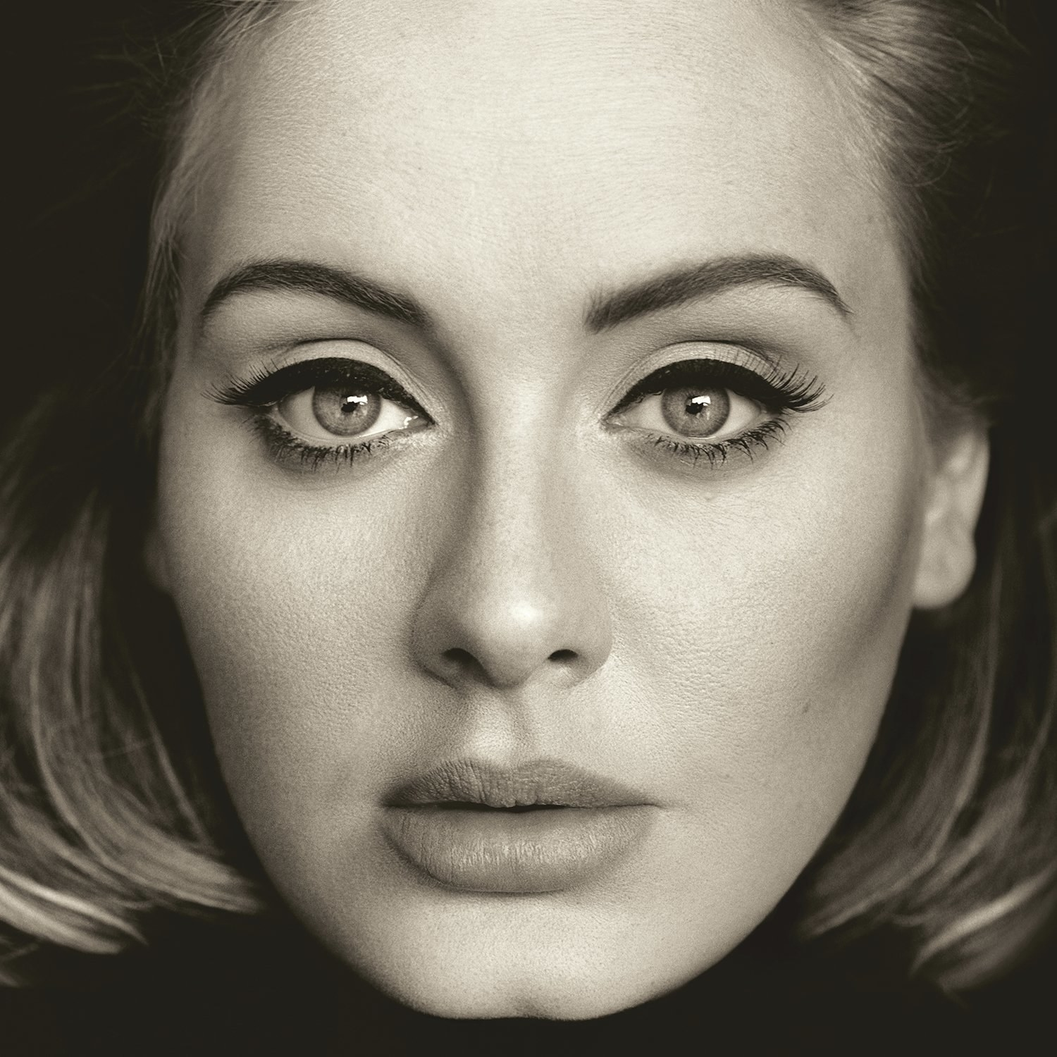 album cover of 25 showing Adele's face